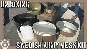 Unboxing: Swedish Army Mess Kit Trangia Alcohol Cook Set ...