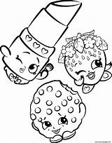 Coloring Pages Shopkins Printable Print Cookie Shopkin Lipstick Strawberry Colouring Cartoon Sheets Info Sun sketch template