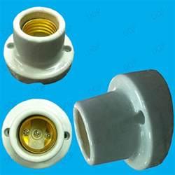 edison screw angled glazed ceramic bulb holder es e27
