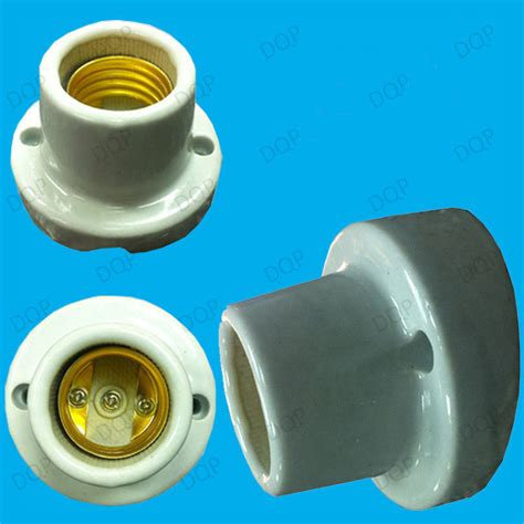 Porcelain L Socket E27 edison angled glazed ceramic bulb holder es e27