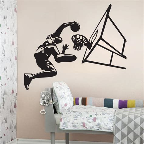 deco chambre basket basketball dunk wall mural decor home decoration