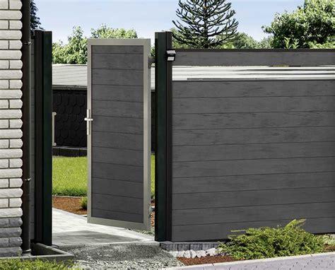 Sichtschutz Garten Mit Tor by Sichtschutzz 228 Une Aus Wpc Holzland Beese Unna