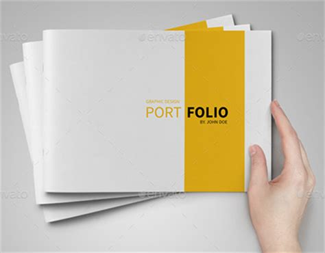 templates de portefolios a5 portfolio template on behance