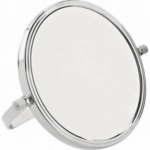 Miroir à Poser : achat en ligne miroir grossissant x10 en m tal poser de diam tre ~ Teatrodelosmanantiales.com Idées de Décoration