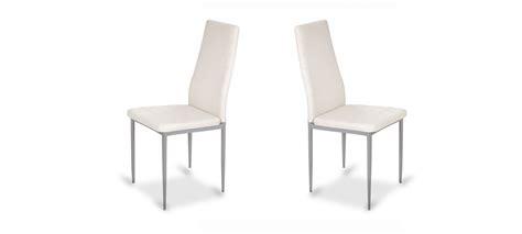 chaise de cuisine blanche chaise de salle à manger blanche design et contemporaine