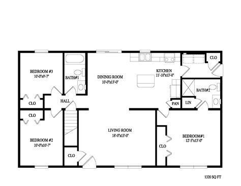 3 Bedroom 2 Bath Ranch House Plans