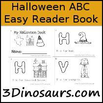 dinosaurs halloween abc easy reader book
