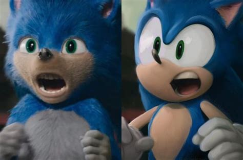 Sonic the Hedgehog Movie Before and After