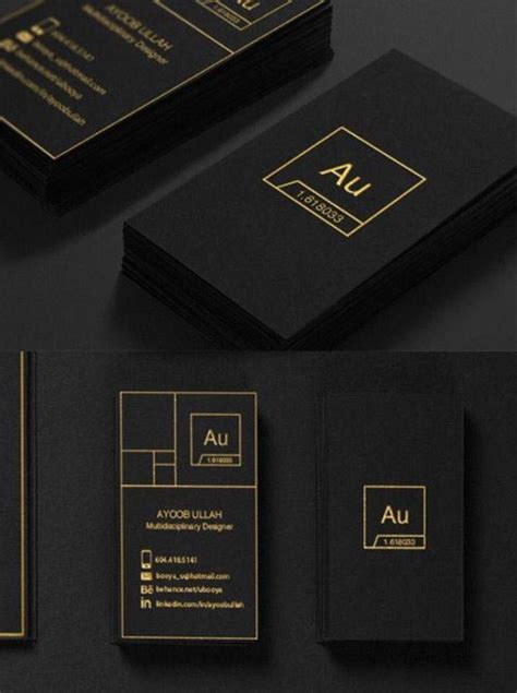 pin    va  buissnes papers black business card
