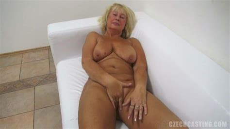 Horny Blonde Granny With Gorgeously Big Tits Getting