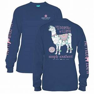 Simply Southern Shirts Size Chart Simply Southern Preppy Drama Llama Long Sleeve T Shirt