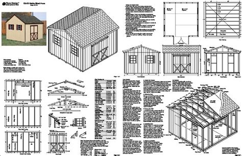 Storage Shed Plans 12x12 Free by Garden Shed Plans Free 12x16 Demmy La
