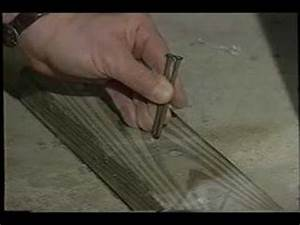 attach wood to concrete youtube With how to nail into concrete floor