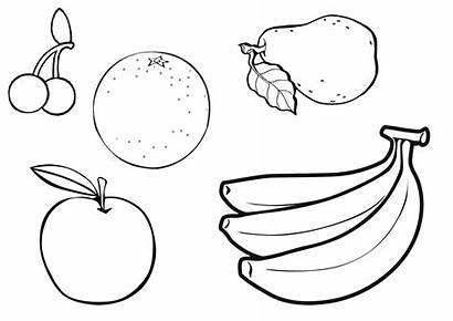 Fruit Bowl Drawing Basket Esl Fruits Coloring