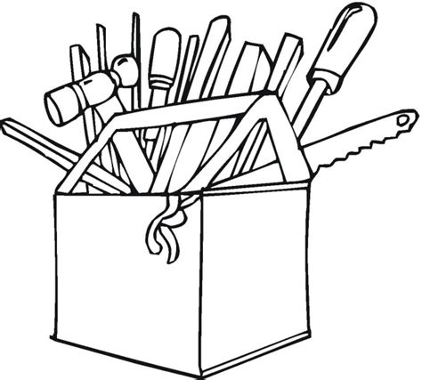 tools colouring pages clipart