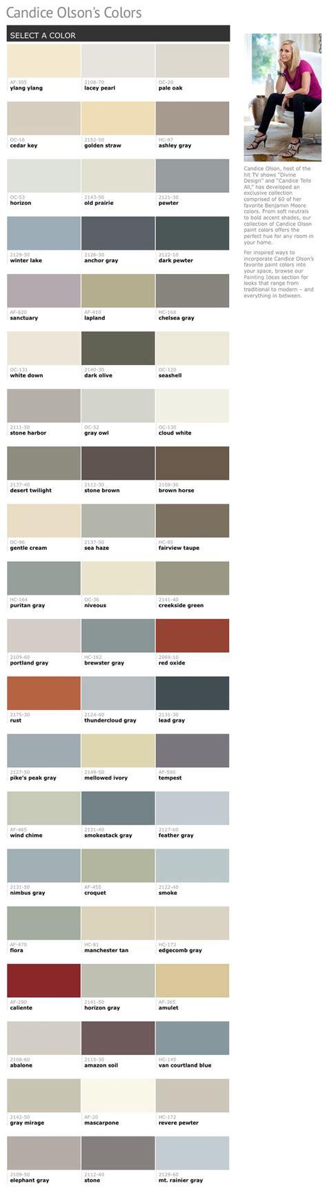 60 Of Candice Olsons Favorite Benjamin Moore Paint Colors