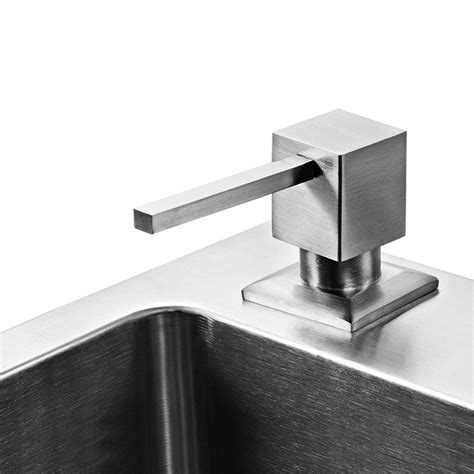 kitchen sink soap dispenser parts donyummyjo brushed nickel metal stainless steel kitchen 8538