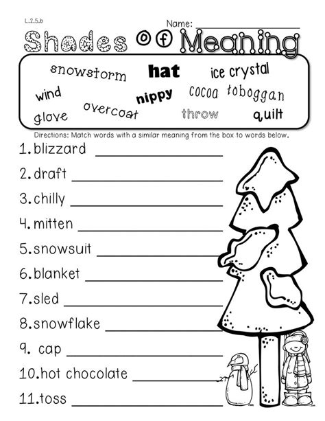 winter worksheets for 2nd grade 2nd grade winter math and literacy packet addresses