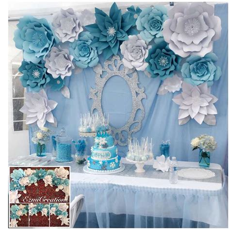 diy kit frozen theme backdrop frozen winter birthday