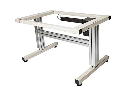 2 Leg Electric Adjustable Height Work Table Ergsource