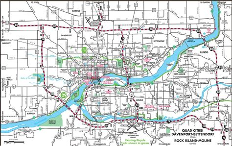 quad cities bike  street map maplets