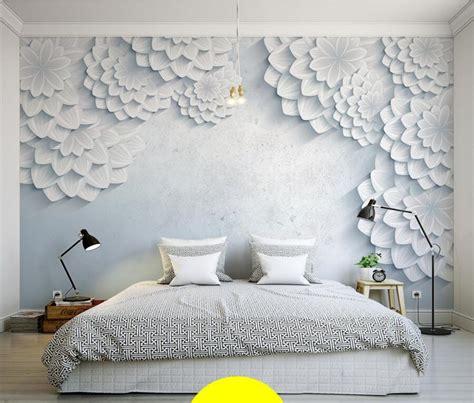 custom modern minimalist  stereo daisy wallpaper living