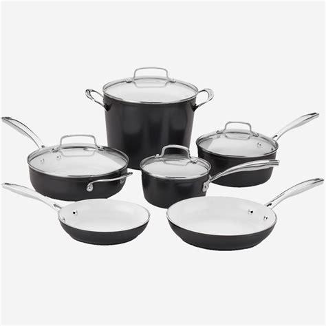piece cuisinart elements pro induction  stick cookware set