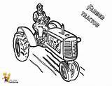 Tractor Coloring Lawn Mower Farmer Deere John Template Yescoloring Boys Zero Turn Hardy sketch template