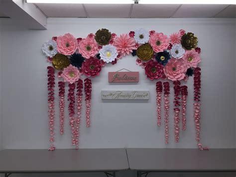 Wedding Backdrop Paper Flowers Diy Backdrop Bride Paper