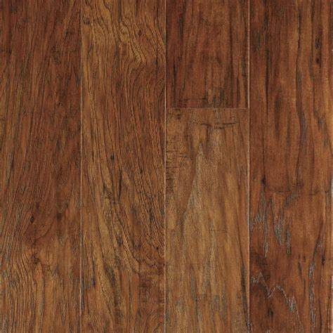 laminate wood planks shop allen roth 4 85 in w x 3 93 ft l marcona hickory handscraped wood plank laminate flooring