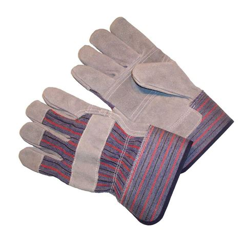 Cowhide Leather Gloves by G F Products Premium Cowhide Leather Palm Large Heavy