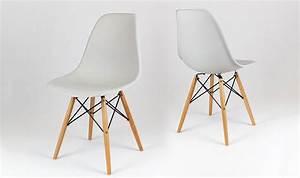 Chaise Blanche Pied Bois : chaise blanche pied bois clair id es de d coration int rieure french decor ~ Teatrodelosmanantiales.com Idées de Décoration