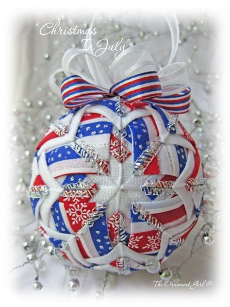 christmas in july patriotic ornament personalized