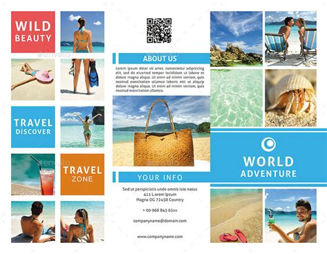 Four Page Brochure Brickhost 3c060785bc37 Tourism Brochure Template Teacheng Us