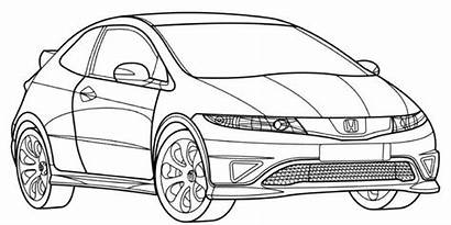 Civic Honda Type Coloring Pages Eg Audi