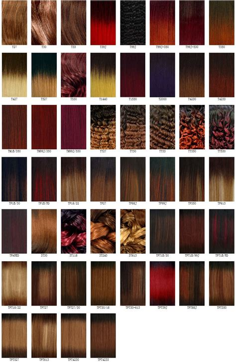 hair color charts hairstyles weekly
