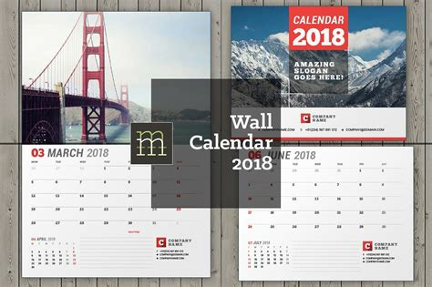 wall calendar   year fully editable layered