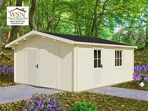 Garage Bois En Kit : garage en bois 30m 5000x6000 44mm ws693 wsn abris ~ Premium-room.com Idées de Décoration