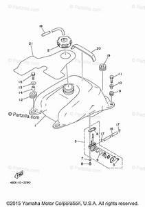 Yamaha Atv 2003 Oem Parts Diagram For Fuel Tank