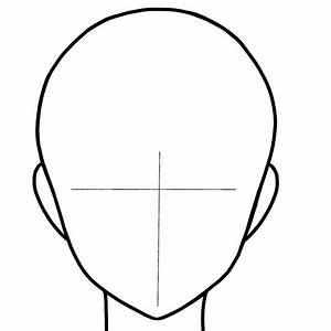 Female manga head template by bebleyart on deviantart for Anime head template