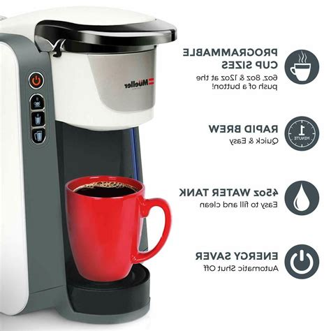 The single cup coffee machines are also an intelligent alternative to automatic drip coffeemakers in many cases. Mueller Austria Single Serve Pod Compatible Coffee Maker