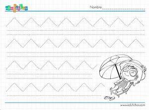Ejercicios de grafomotricidad para verano Fichas educativas