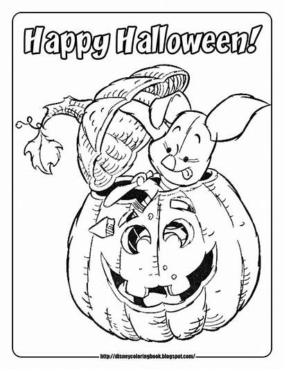 Halloween Coloring Pages Disney Happy Pumpkin Sheets