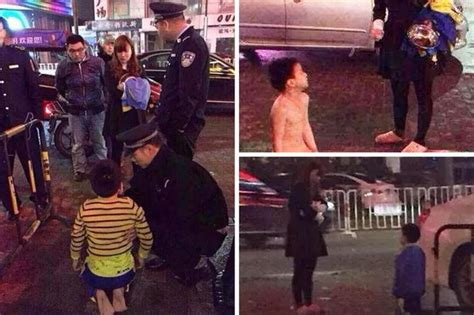 Angry Mum Forced Son To Kneel Down Naked In Freezing