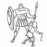 David Bible Goliath Coloring Goliat Quilt Colorear Squares Square Disegni Colorare Dibujo Battle Paper Sling Crayons Trace Muslin Cotton Hoe sketch template