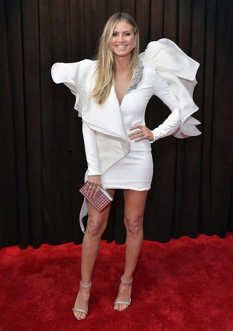 Heidi Klum The Grammy Awards Grammys Red Carpet