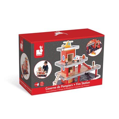 cuisine janod caserne de pompier jouet en bois janod 66 40