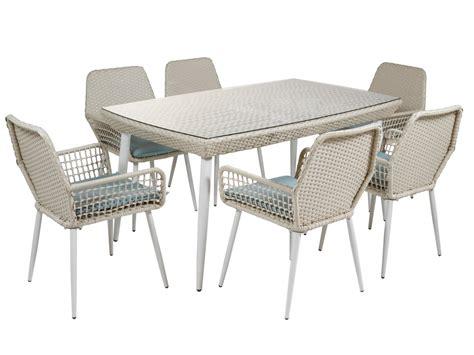 conjunto mesa   sillas  jardin ratan  alimunio
