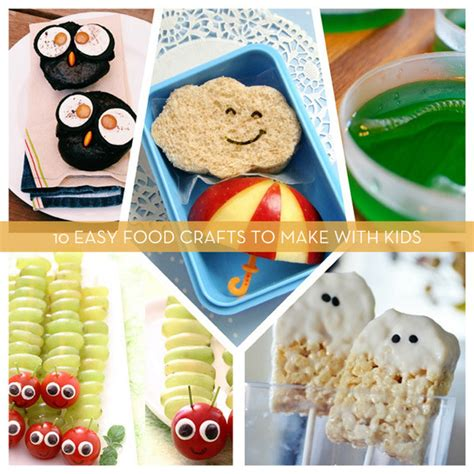 Roundup 10 Easy Food Crafts To Make With Kids Curbly