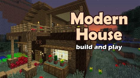 modern wooden minecraft house tutorial enjoy